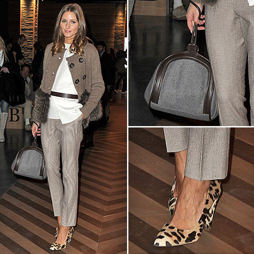 Olivia Palermo Shows How To Work Winter Accessories at Milan Men's Fashion Week