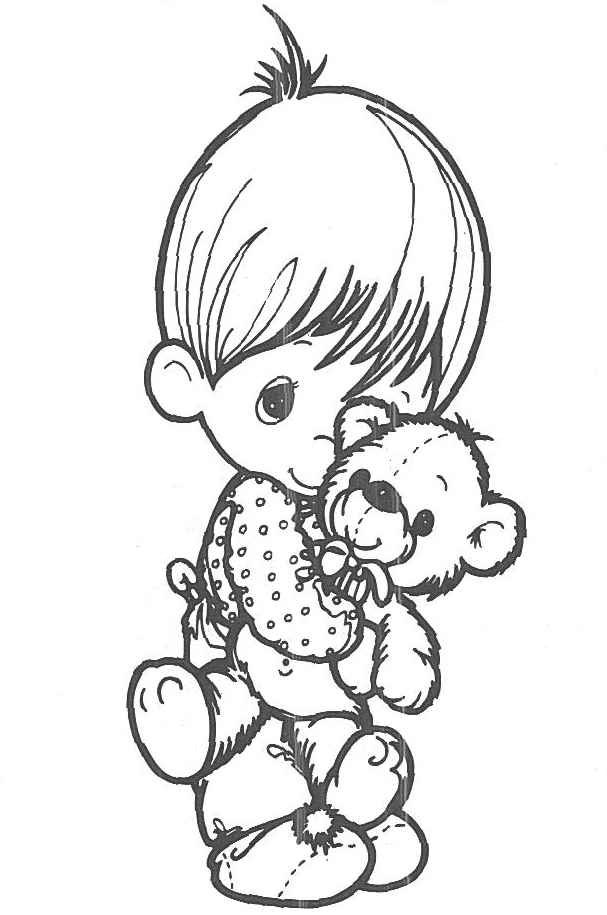 Cute precious moments coloring pages for Precious moments baby coloring pages