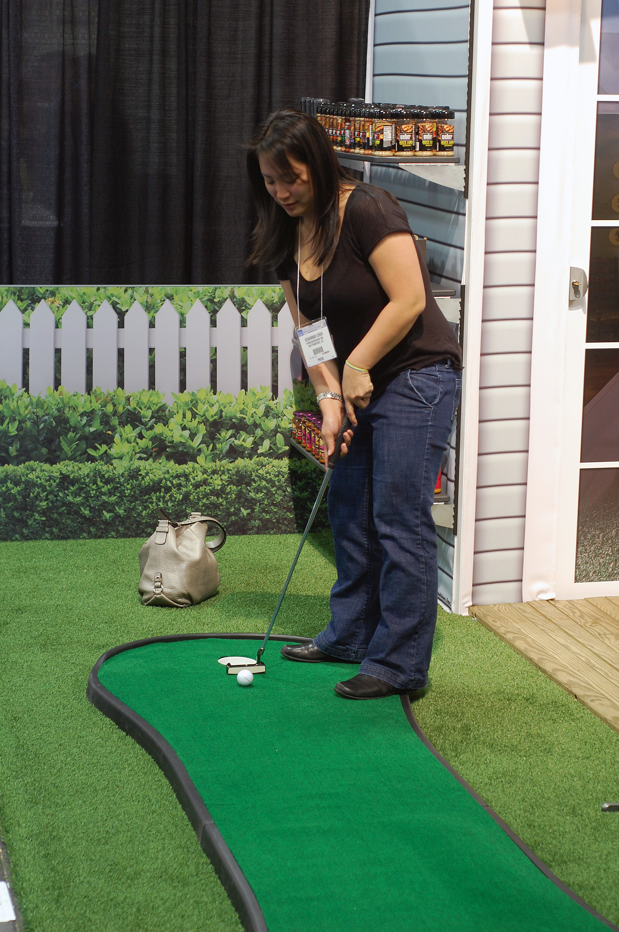 Mini Golf at a Food Show