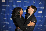 Kerry Washington got a big hug from Toby Maguire at the premiere of The Details in 2011.