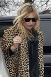 Kate Moss arrived at her new home in London.