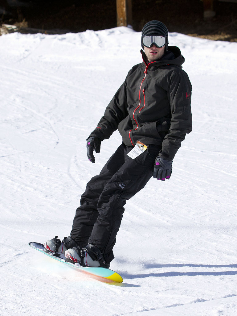 Penn Badgley hit the slopes at the Burton House in 2011.