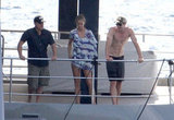 Shirtless Matt Damon and Chris Hemsworth Make a Splash on a Super Yacht With Their Bikini-Clad Wives