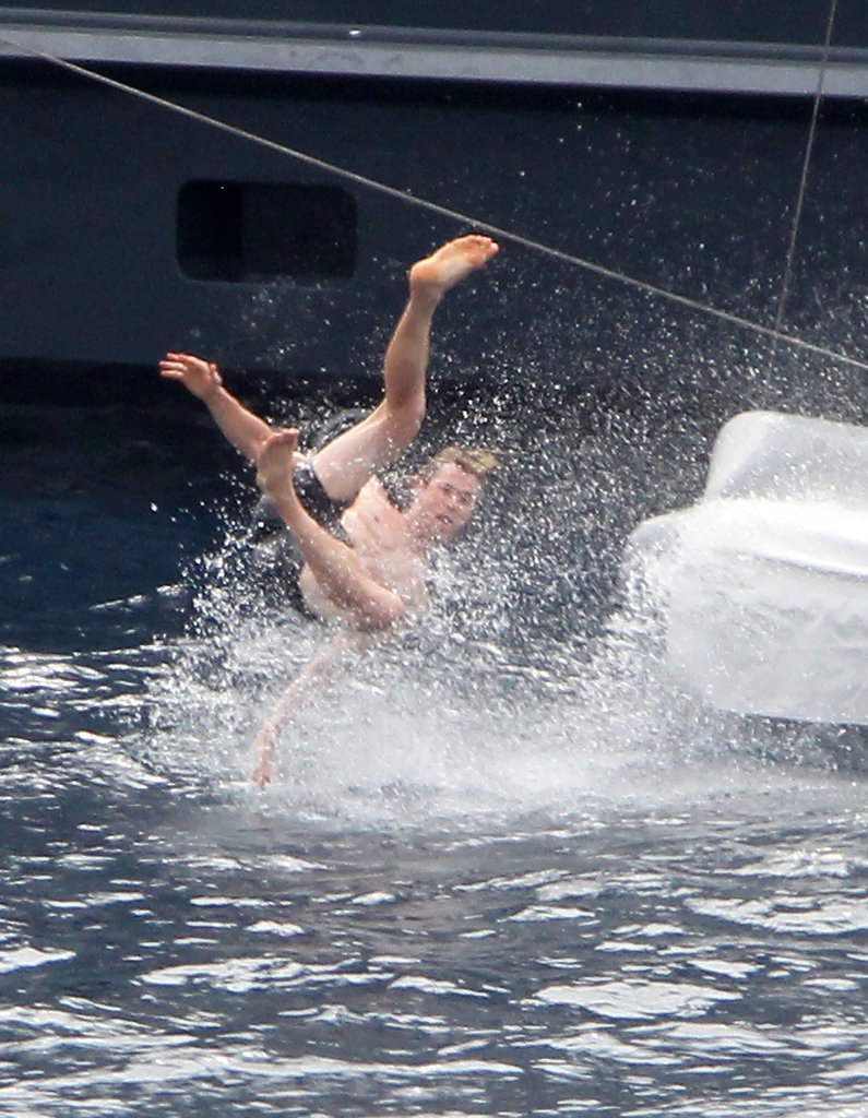 Chris Hemsworth making a splash.