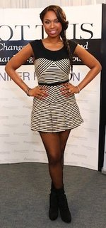 Designer of Jennifer Hudson's Black and White Striped Dress
