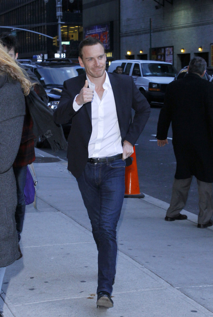 Michael Fassbender rocked a sexy unbuttoned shirt.