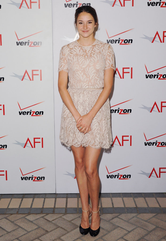 Shailene Woodley in a Lace Honor Mini at the 2011 AFI Awards