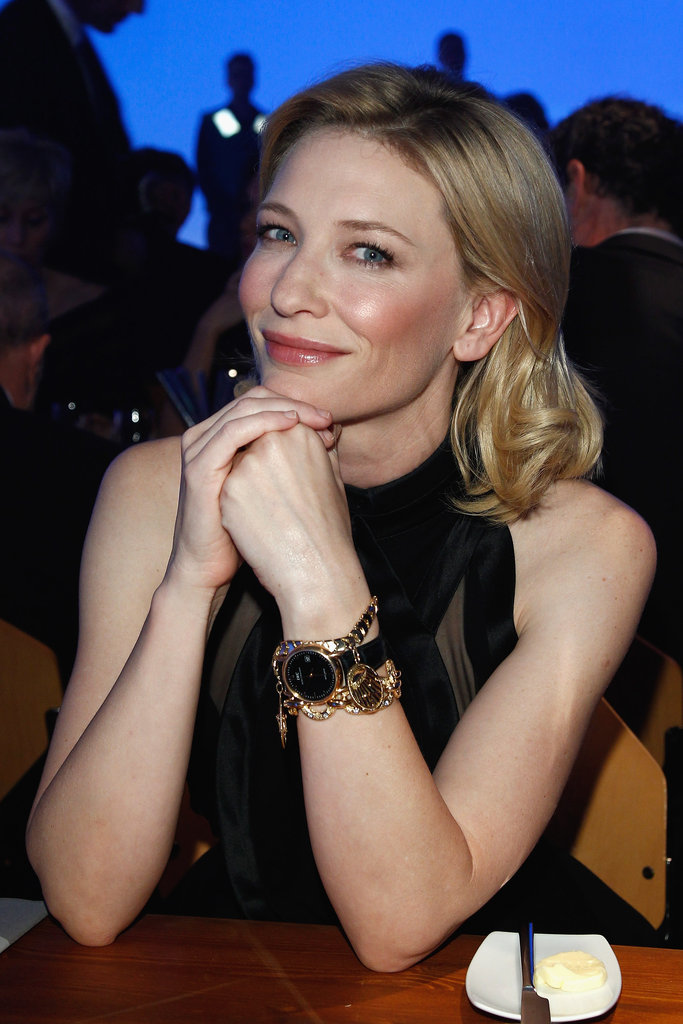 Cate Blanchett attended the IWC Schaffhausen Top Gun Gala event during the 22nd SIHH High Jewellery Fair at the Palexpo Exhibition Hall on in Geneva, Switzerland on Jan. 17.