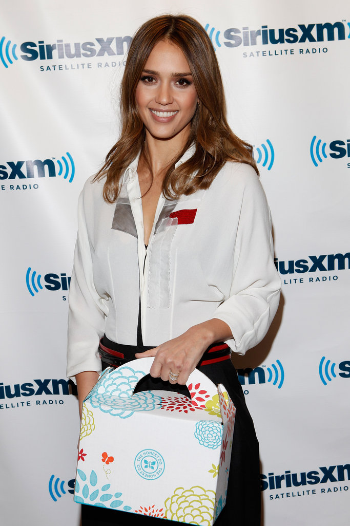 Jessica Alba stopped by SiriusXM Studio in NYC on Jan. 19.