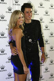 Bernard Tomic and girlfriend Donay Meijer were together at the Australian Open Players Party at Crown Towers in Melbourne on Jan. 15.