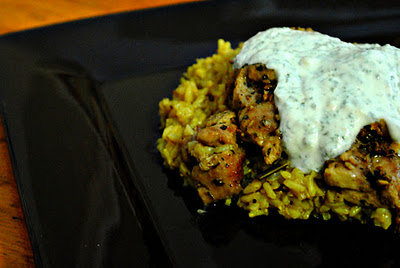 Halal Chicken with Yogurt Sauce