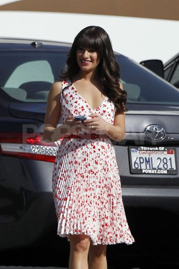 Lea Michele swapped her LBD for sweet Spring florals.