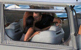 Matt Damon and bikini-clad Luciana Damon kissed in St. Barts.