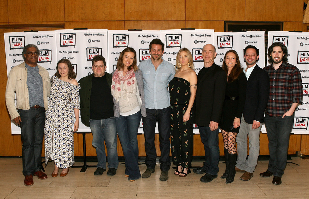 Film Independent at LACMA curator Elvis Mitchell, Lena Dunham, Patton Oswalt, Olivia Wilde, Bradley Cooper, Kate Hudson, J.K. Simmons, Diane Lane, Nick Kroll, and Jason Reitman at a live read of Shampoo.