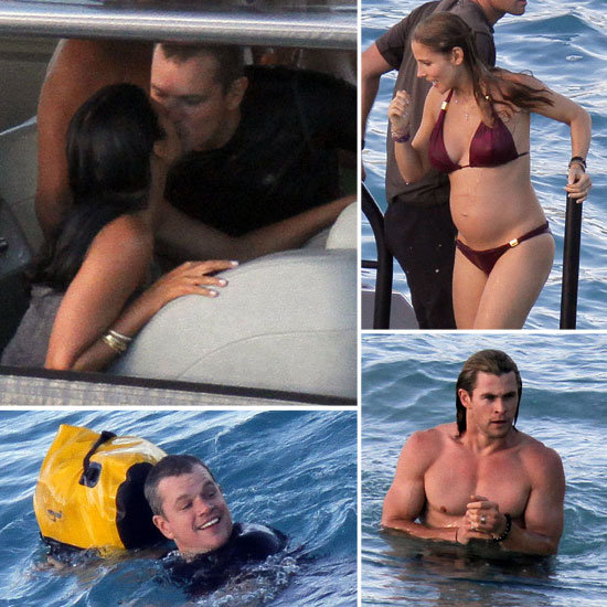 Matt Kisses Luciana as Their Getaway With Bikini-Clad Elsa and Shirtless Chris Continues