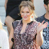 Pregnant Celebrities Wearing Animal Print