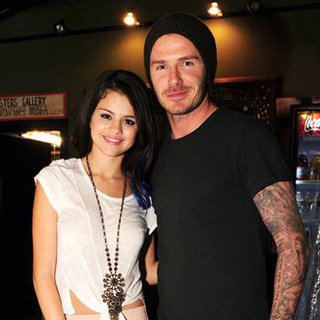 David Beckham and Selena Gomez Pictures