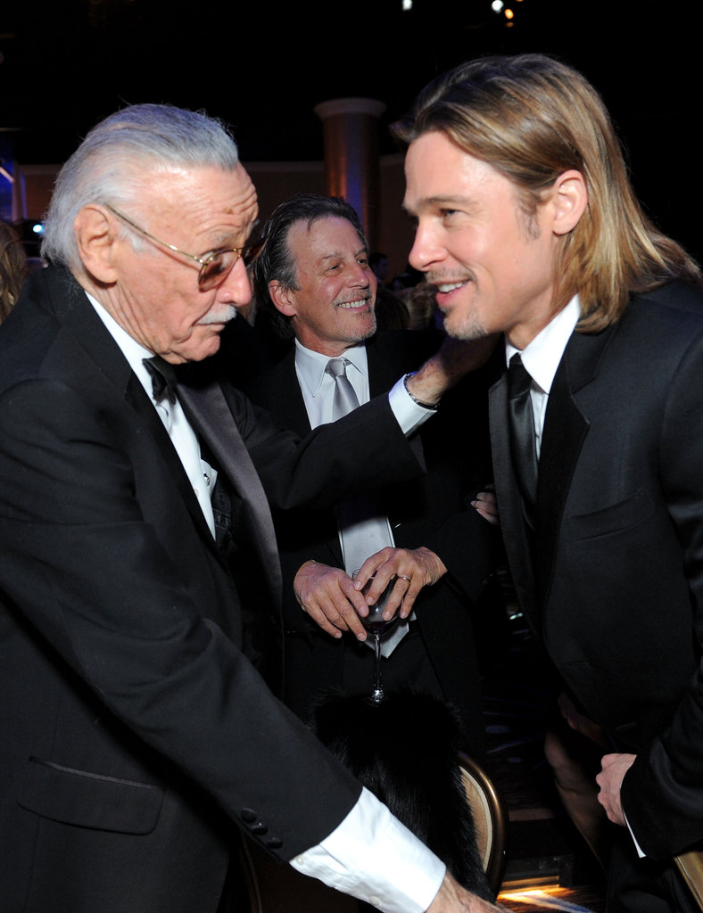 Stan Lee and Brad Pitt