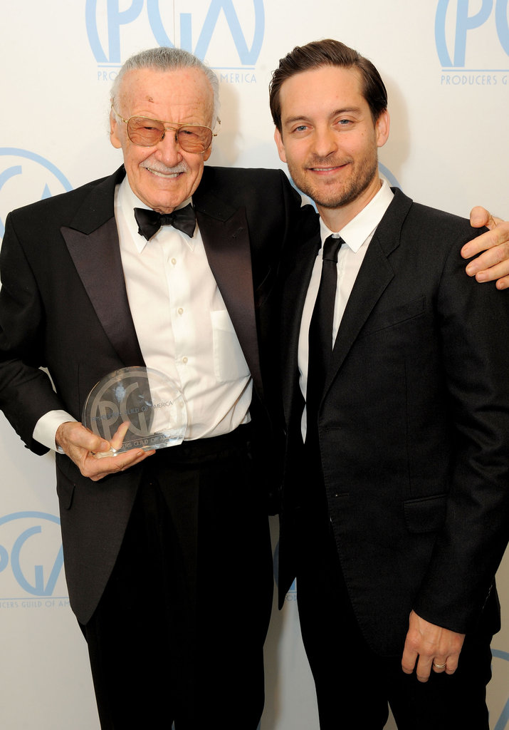Stan Lee and Tobey Maguire