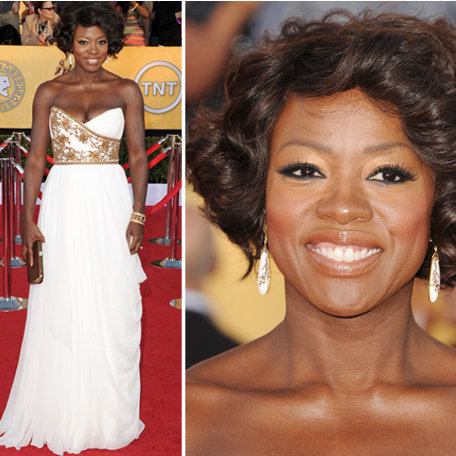 Viola Davis in Marchesa at the SAG Awards 2012