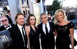 Brad Pitt, Angelina Jolie, George Clooney, and Stacy Keibler