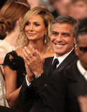 Stacy Keibler and George Clooney enjoyed the show.