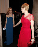 Michelle Williams and Jessica Chastain wore bright gowns.