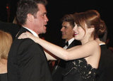 Emma Stone and Josh Brolin chatted.