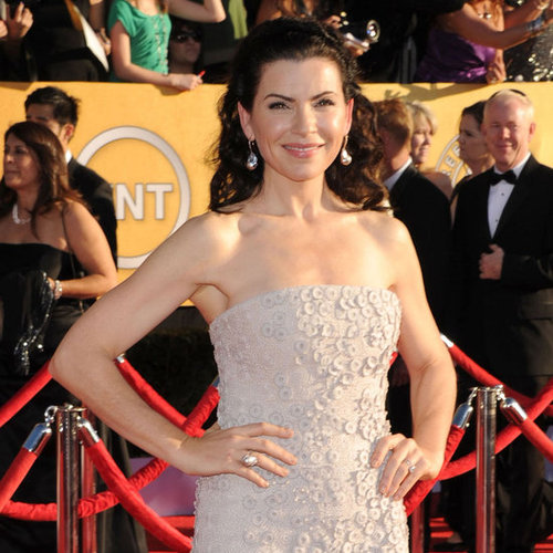 Julianna Margulies Custom Calvin Klein Dress Pictures at 2012 SAG Awards