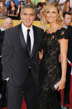 George Clooney and Stacy Keibler were together at the SAG Awards.