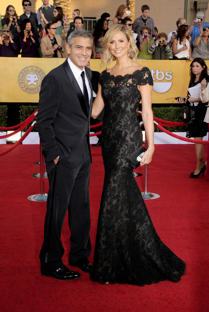 George Clooney and Stacey Keibler at the SAG Awards