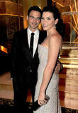 Julianna Margulies and her husband Keith Lieberthal posed for a photo.