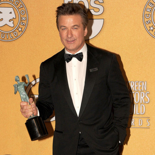 Alec Baldwin Backstage at the 2012 SAG Awards (Video)