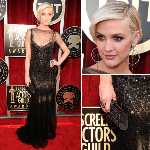 Ashlee Simpson Goes Sexy and Sheer in Jenny Packham A/W 2011 Gown at the 2012 SAG Awards