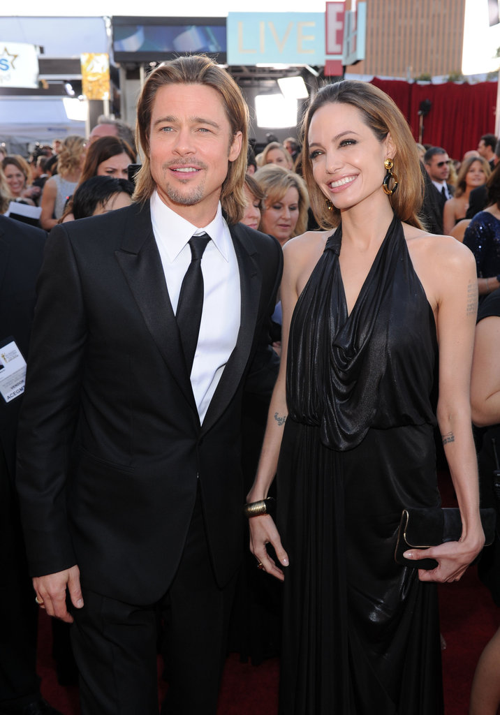 Brad Pitt and Angelina Jolie glam it up.