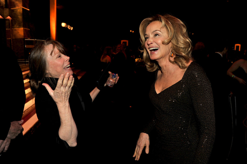 Sissy Spacek and Jessica Lange enjoy themselves.