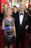 Christopher Plummer and his wife Elaine Taylor smile.