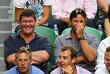 James Packer and Pat Rafter