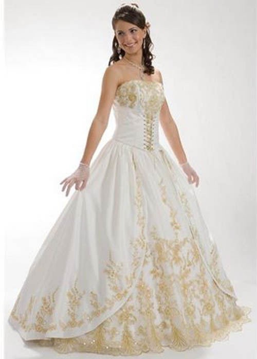 Gold and white dress related keywords gold and white for White and gold wedding dresses