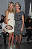Bar Refaeli and Cameron Diaz at at Paris Fashion Week.