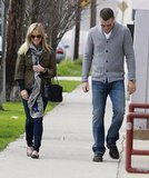 Reese Witherspoon and Jim Toth had a happy Sunday stroll.