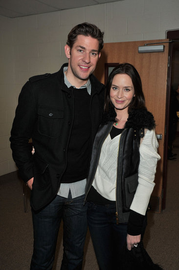 John Krasinski and Emily Blunt were affectionate at the 2012 Sundance Film Festival.
