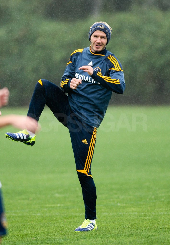 David Beckham on the soccer field.