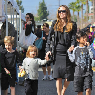 Angelina Jolie With Short-Haired Shiloh Pictures