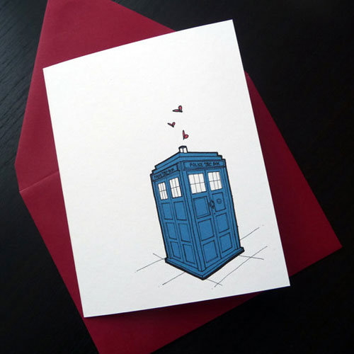 TARDIS + Hearts 