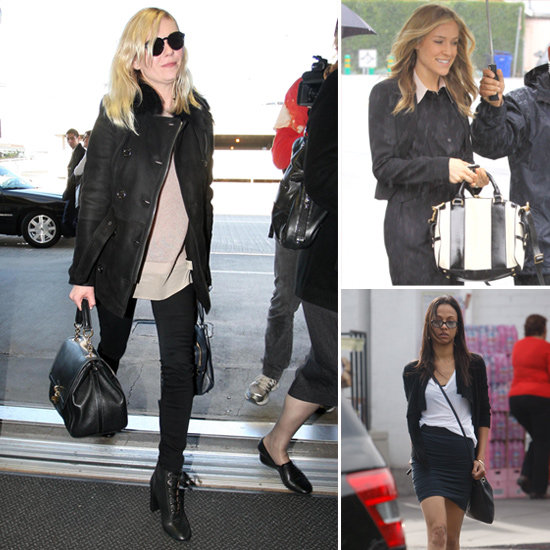 Kristin Cavallari Black and White Satchel Bag