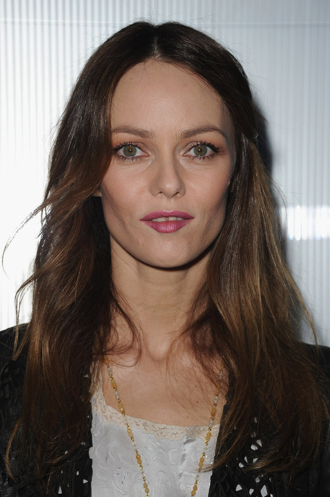 Vanessa Paradis arrived at Chanel's Haute Couture show in Paris.