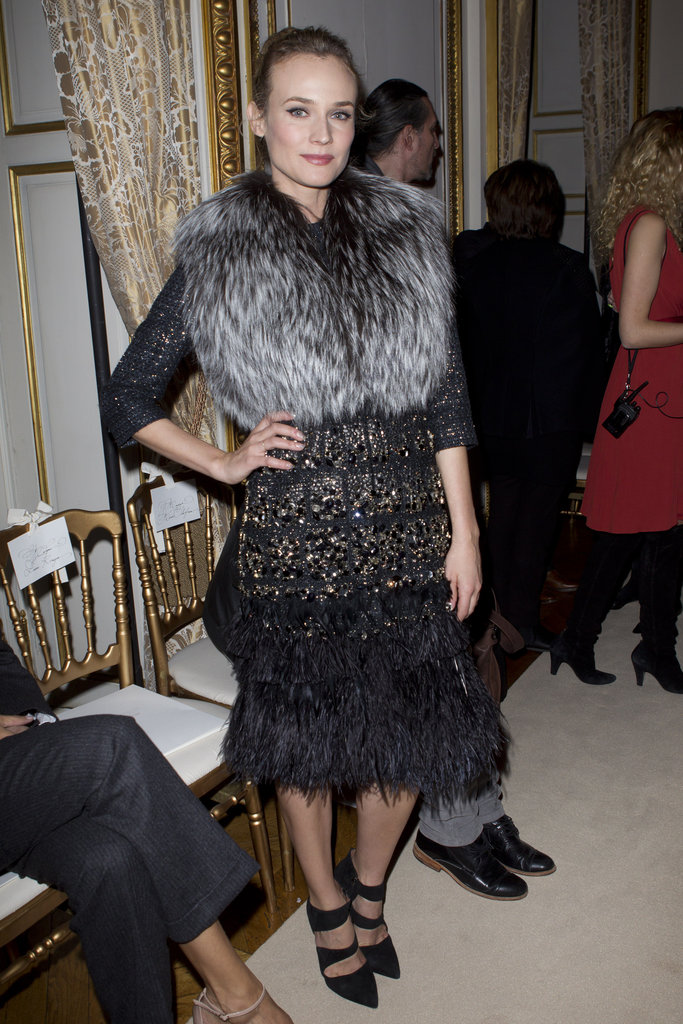 Diane Kruger at the Giambattista Valli Couture show.