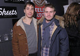 Brady Corbet, in a Woolrich, John Rich & Bros. Arctic Parka, and Justin Long hung out at Sundance.