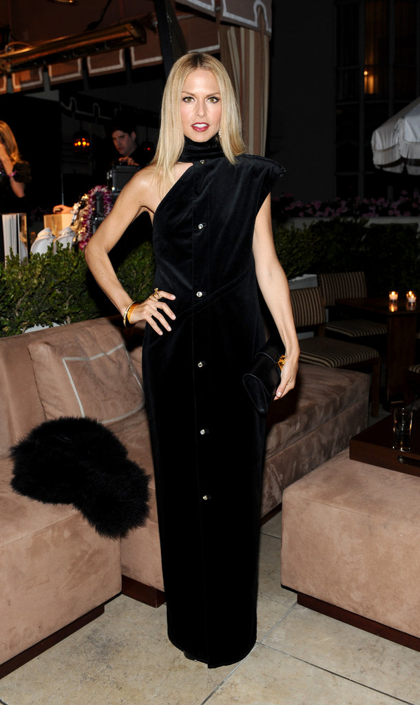 Rachel Zoe wore a long black gown.